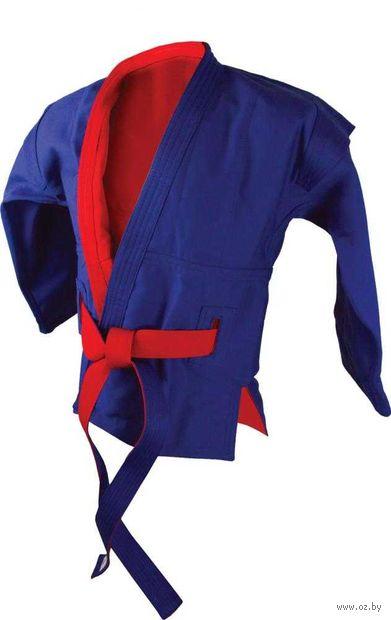Куртка для самбо двухсторонняя AX55 (р. 50/175; красно-синяя) — фото, картинка