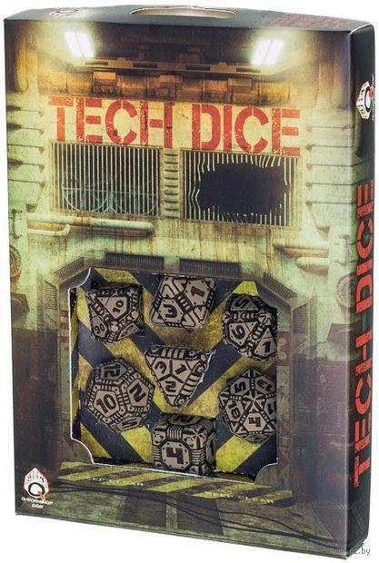 "Набор кубиков ""Tech"" (7 шт.; черно-бежевый) — фото, картинка"