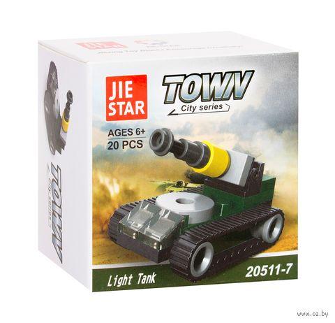 "Конструктор ""Town. Light tank"" (20 деталей) — фото, картинка"