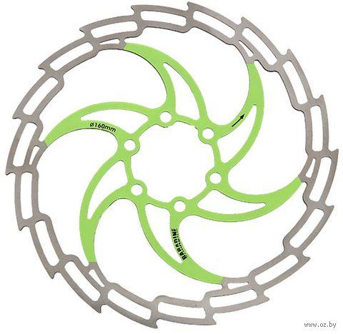 """Тормозной диск велосипедный """"DB-05D"""" (180 мм; зелёный) — фото, картинка"""