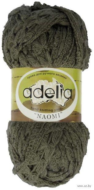 "Пряжа ""Adelia. Naomi №9"" (100 г; 24 м; тёмно-зелёный) — фото, картинка"