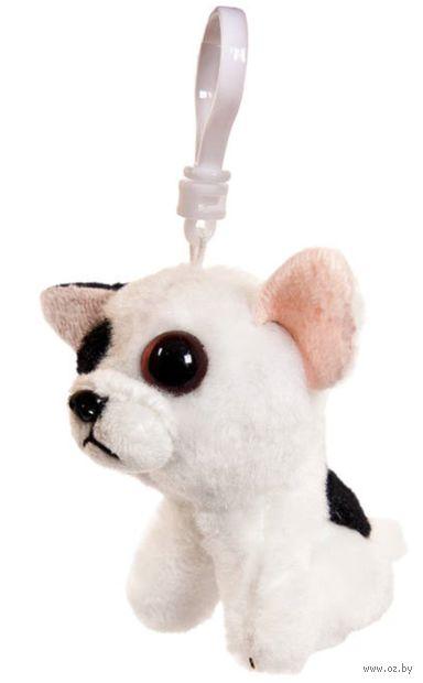 """Мягкая игрушка-брелок """"Бульдог"""" (9 см; белый) — фото, картинка"""
