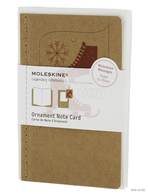 "Набор для письма Молескин ""Ornament Card Ice Skate"" (карманный; мягкая бежевая обложка)"