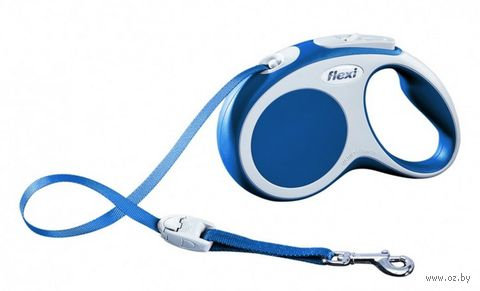 "Поводок-рулетка для собак ""Vario"" (синий, размер S, до 15 кг/5 м, арт. 12062)"