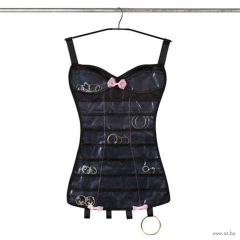 """Органайзер для украшений """"Little corset"""" (черный)"""