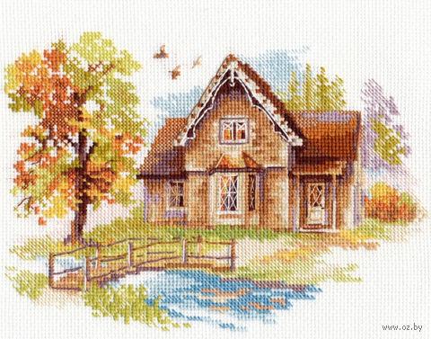 """Вышивка крестом """"Сентябрьский домик"""" — фото, картинка"""