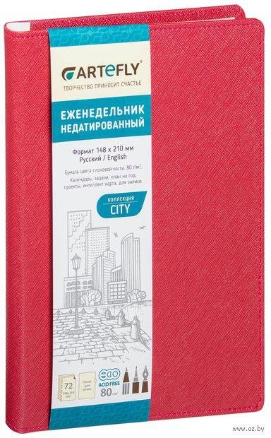 """Еженедельник недатированный """"City"""" (А5; красный) — фото, картинка"""
