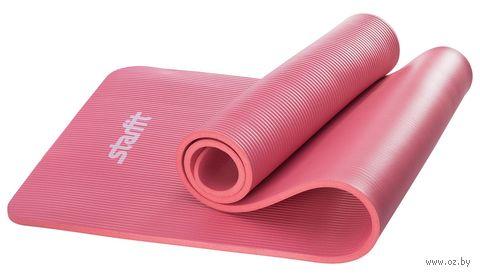 Коврик для йоги FM-301 (183x58x1,2 см; красный) — фото, картинка