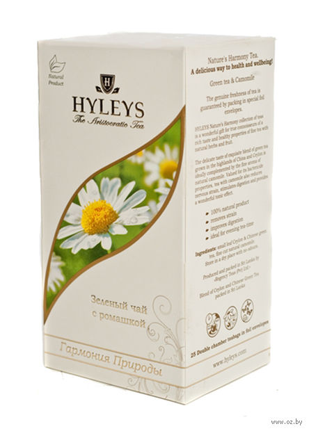 """Чай зеленый """"Hyleys. Гармония природы"""" (25 пакетиков; с ромашкой) — фото, картинка"""