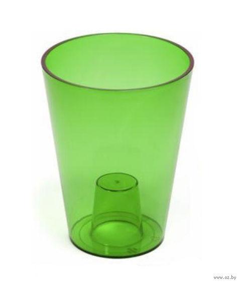 """Кашпо """"Lilia"""" (12,5 см; прозрачный зеленый) — фото, картинка"""