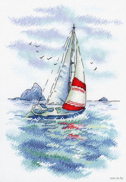 "Вышивка крестом ""Морская регата"" (250x180 мм) — фото, картинка"
