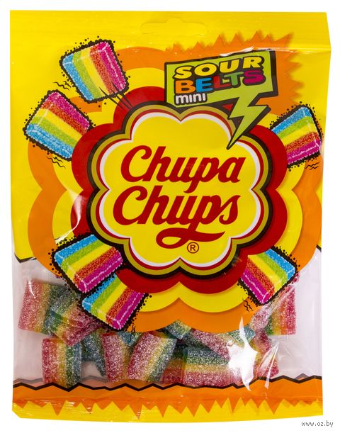 "Мармелад ""Chupa Chups. Sour belts mini"" (150 г) — фото, картинка"
