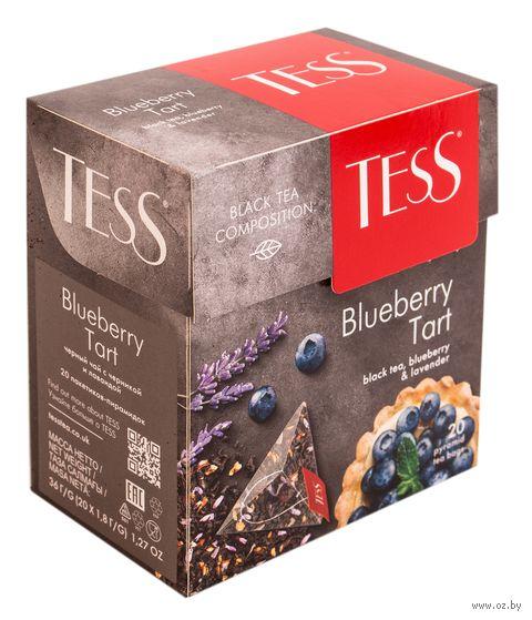"""Чай черный """"Tess. Blueberry Tart"""" (20 пакетиков) — фото, картинка"""