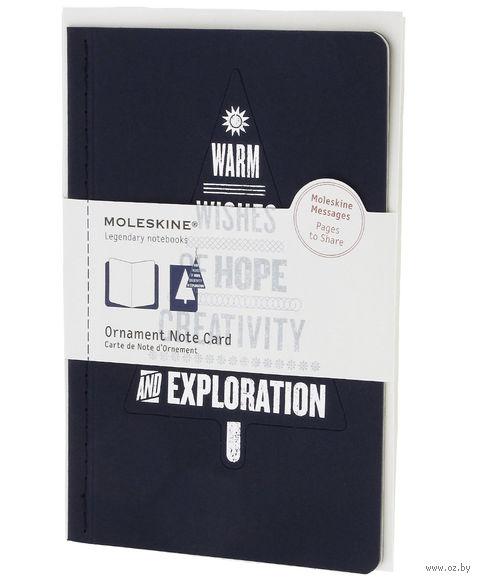 """Набор для письма Молескин """"Ornament Card Tree"""" (большой; мягкая синяя обложка)"""