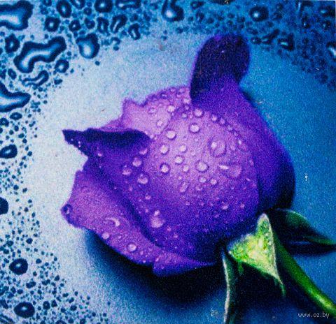 """Алмазная вышивка-мозаика """"Сиреневая Роза"""""""