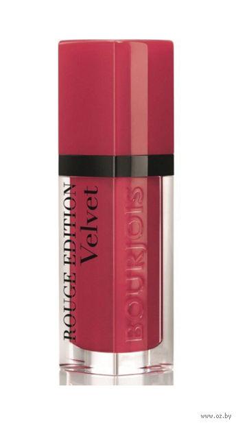 """Помада-флюид для губ """"Rouge edition velvet"""" (тон: 02, красная ягода) — фото, картинка"""