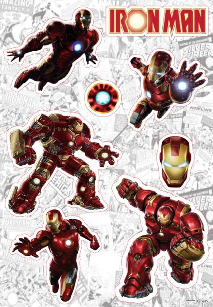 "Набор глянцевых наклеек ""Marvel"" №23 — фото, картинка"