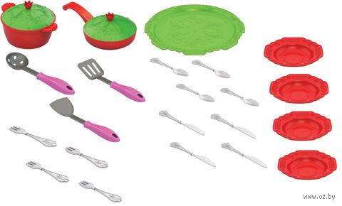 """Набор детской посуды """"Волшебная хозяюшка. Кухонный сервиз"""" (арт. 616H) — фото, картинка"""