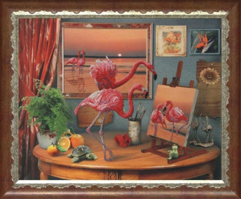 """Вышивка бисером """"Фантазии моря"""" (590х470 мм) — фото, картинка"""