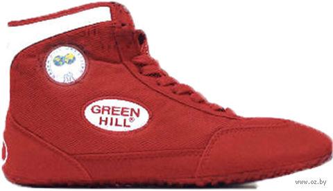 Обувь для борьбы GWB-3052/GWB-3055 (р. 44; красно-белая) — фото, картинка
