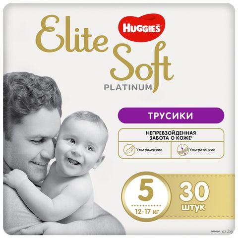 """Подгузники-трусики """"Elite Soft Platinum 5"""" (12-17 кг; 30 шт.) — фото, картинка"""