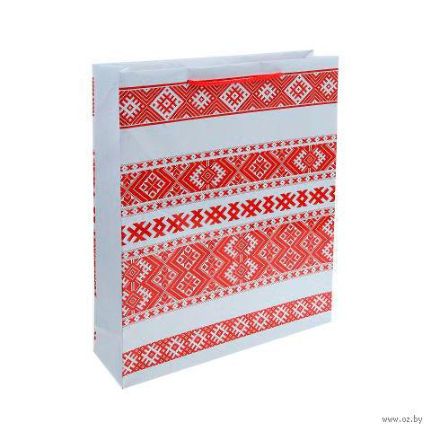 Пакет бумажный подарочный (31х40х9 см; арт. BB101381)