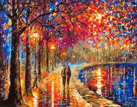 """Картина по номерам """"Прогулка под фонарями"""" (400х500 мм; арт. PC4050136) — фото, картинка"""