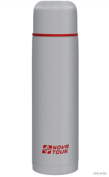 """Термос из нержавеющей стали """"Титаниум 1000"""" (1 л; серо-красный) — фото, картинка"""