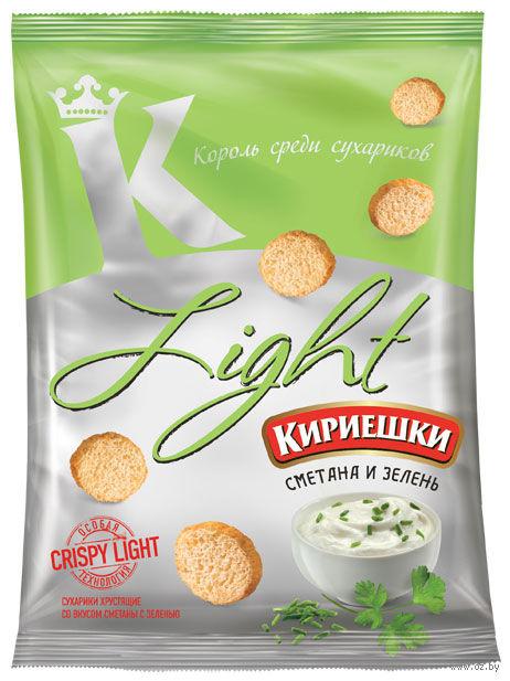 "Сухарики ""Light"" (80 г; сметана и зелень) — фото, картинка"