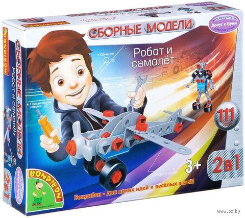"""Конструктор """"Робот и самолёт 2 в 1"""" (111 деталей) — фото, картинка"""