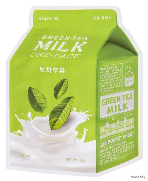 "Тканевая маска для лица ""Green Tea. Milk"" (21 г) — фото, картинка"