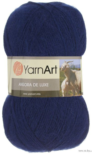 "Пряжа ""YarnArt. Angora de Luxe №583"" (100 г; 520 м; тёмно-синий) — фото, картинка"