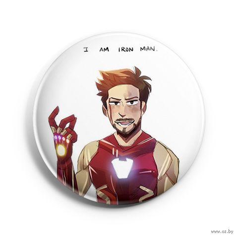"Значок маленький ""I Am Iron Man"" (арт. 109) — фото, картинка"