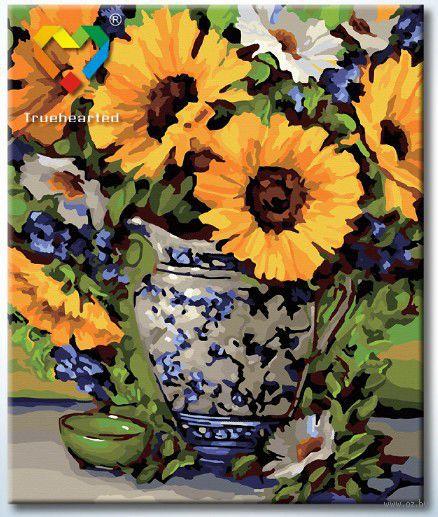 """Картина по номерам """"Подсолнухи в вазе"""" (500x600 мм; арт. HB5060003)"""