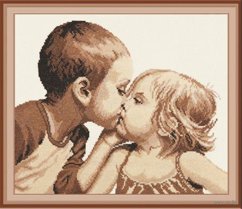 "Вышивка крестом ""Дети"" (330x300 мм) — фото, картинка"