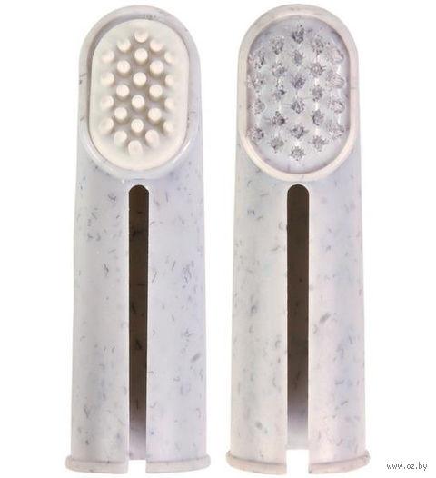 Набор для чистки зубов у собак (2 щетки)