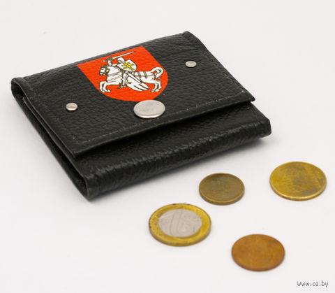 "Монетница прямоугольная ""Пагоня"" (черная; арт. m116) — фото, картинка"
