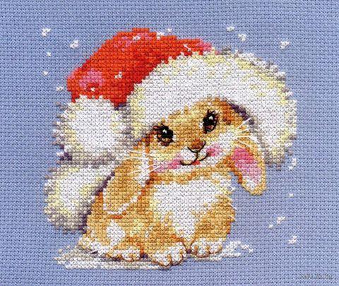 "Вышивка крестом ""Зимний зайчишка"""