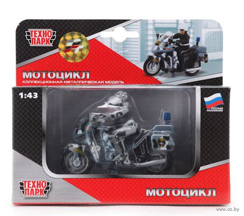 "Модель мотоцикла ""Мотоцикл. ОМОН"" (с фигуркой)"