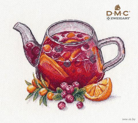 """Вышивка крестом """"Ягодный чай"""" (200х160 мм) — фото, картинка"""