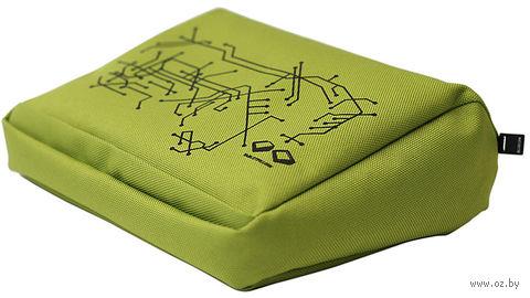 """Подушка-подставка для планшета """"Hitech"""" (зеленая, черная)"""