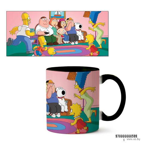 """Кружка """"Симпсоны и Гриффины"""" (599, черная)"""