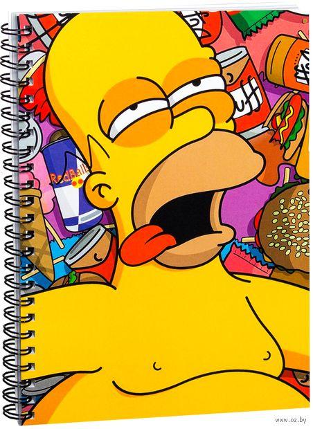 """Блокнот в клетку """"Симпсоны. Гомер"""" A5 (411)"""