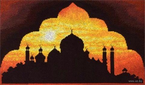 "Вышивка крестом ""Мечеть на закате"" (345x220 мм) — фото, картинка"
