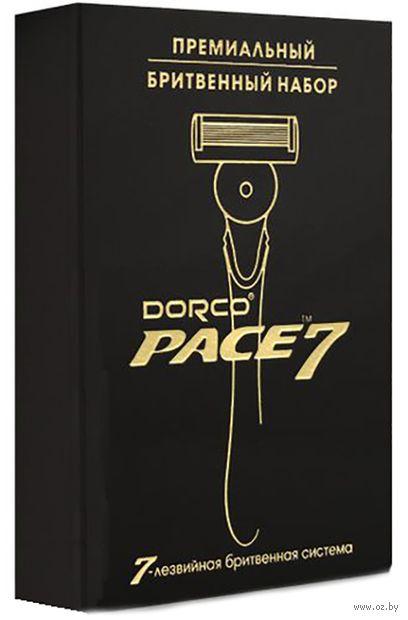 """Подарочный набор """"Pace 7 Золото"""" (станок для бритья, 5 сменных кассет) — фото, картинка"""