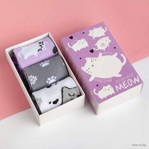 "Носки детские ""Котик"" (3 пары; арт. 4476230) — фото, картинка"