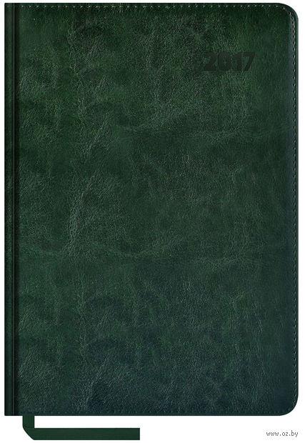 """Ежедневник датированный """"Sarif"""", 2017 (А5; 176 листов; зеленый)"""