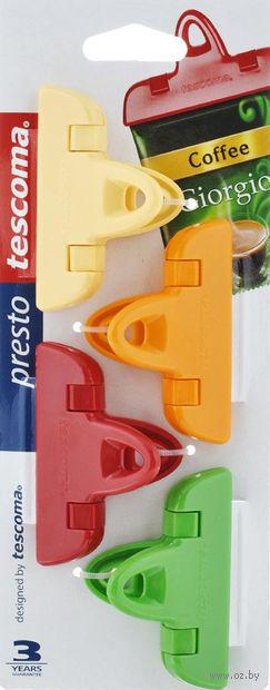 """Набор прищепок для пакетов """"Presto"""" (4 шт.; 70 мм) — фото, картинка"""
