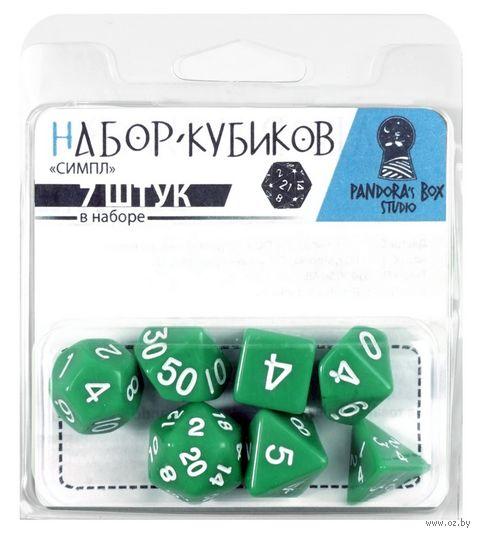 """Набор кубиков """"Симпл"""" (7 шт.; зеленый) — фото, картинка"""