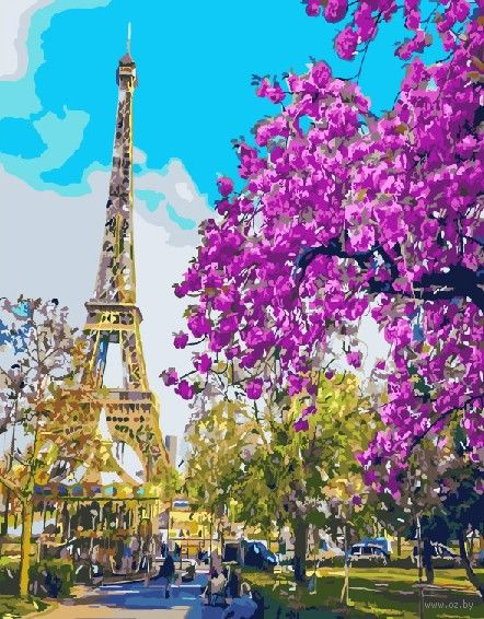 "Картина по номерам ""Цветущий Париж"" (400х500 мм) — фото, картинка"
